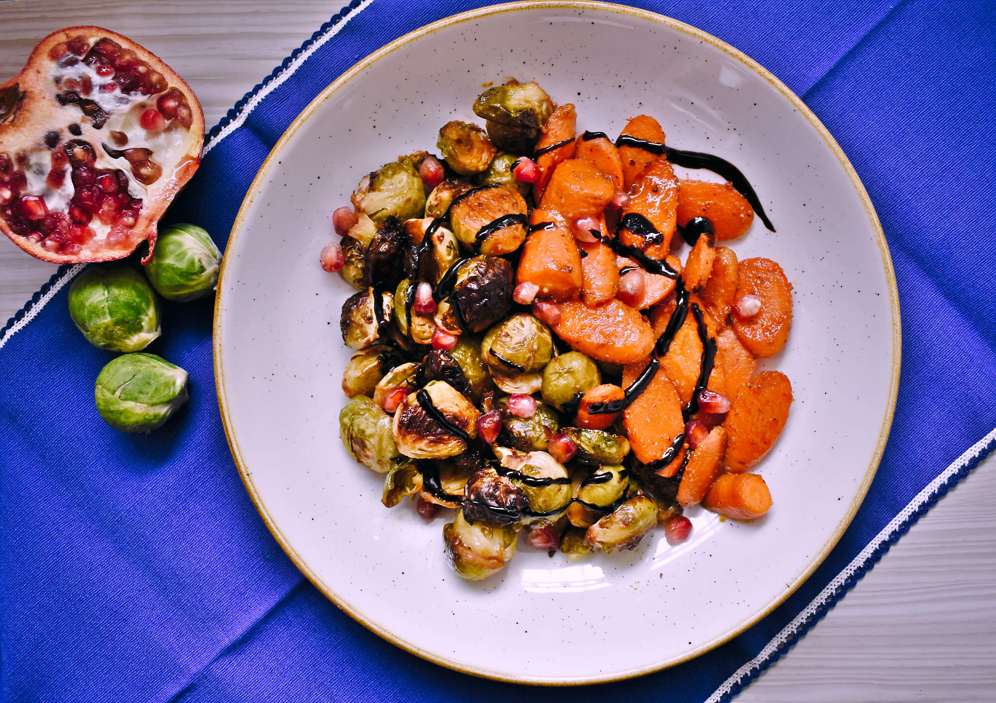 Crispy miso-glazed Brussels sprouts