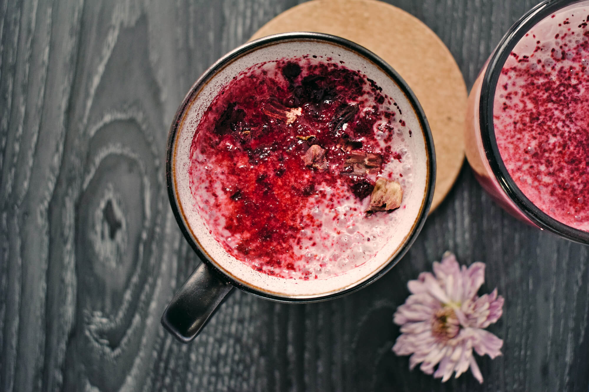 Pink Latte with Beetroot and Coconut Milk