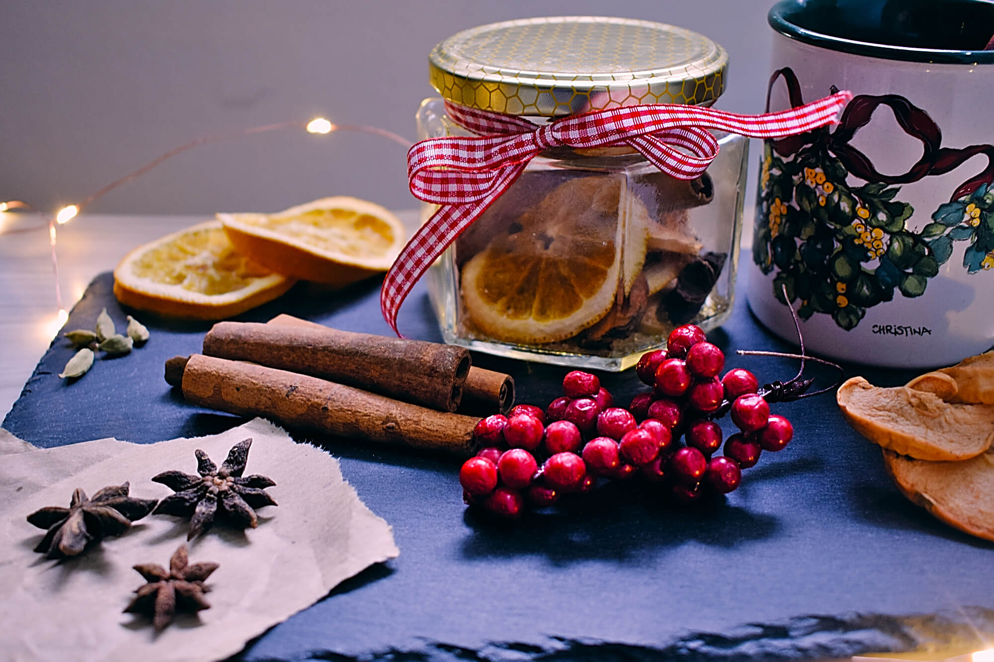 Mulled wine spice mix gift