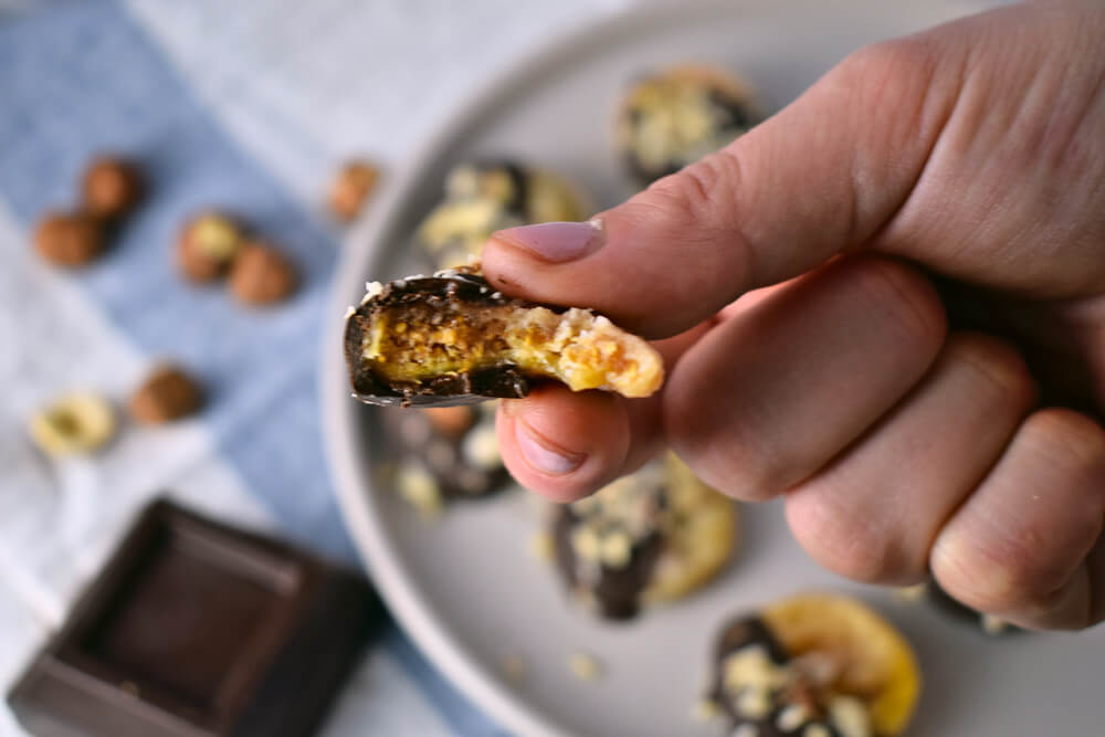 Chocolate Dipped Dried Figs